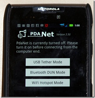 Internet from your Smartphone with PDANet/FoxFi