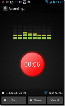 There are lots of voice recorder apps for your smartphone