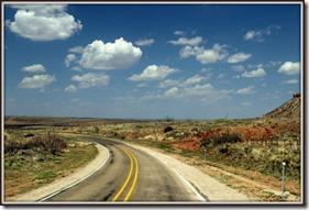 Texas road north of Amarillo