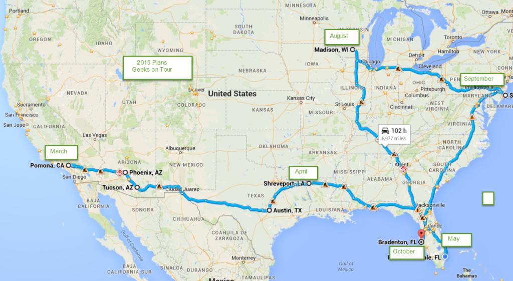2015 Travel Plans