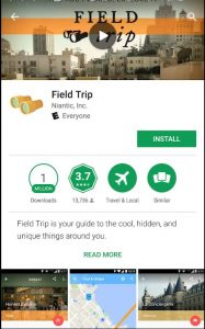 Field Trip app for historical markers