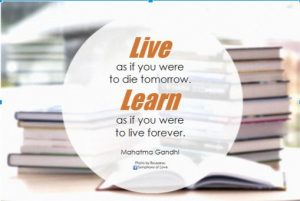 #LifeLongLearning quote by Mahatma Gandhi