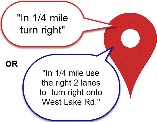 "Your navigation system should tell you more than just ""Turn right here"""