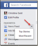 Facebook Newsfeed: Most Recent vs. Top Stories